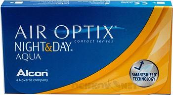 Контактные линзы Air Optix Night & Day Aqua 3 линзы купить недорого в интернет-магазине «Ochkov.net» | Доставка контактных линз по Санкт-Петербургу и Ленинградской области